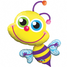 Beaming Bee Large Foil Balloon 1pc